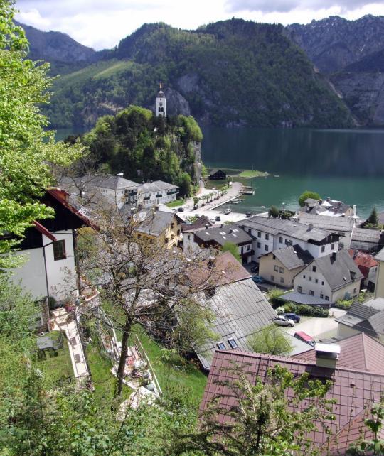 ebensee am traunsee pohled z kalvarienbergweg
