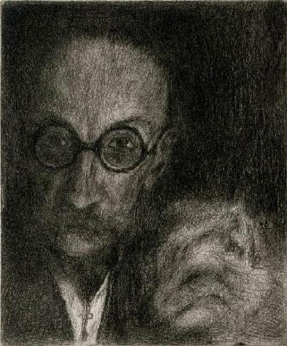 reynek autoportret s kockou