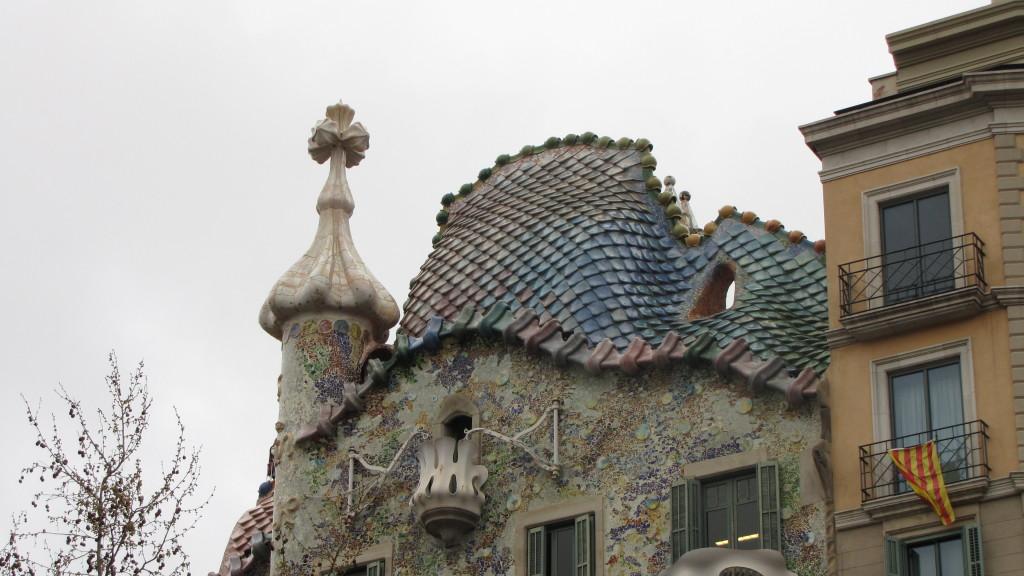 Casa Batlló - detail střechy