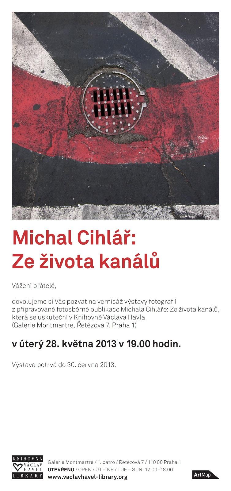 Michal Cihlář      Ze života kanálů  pozvánka