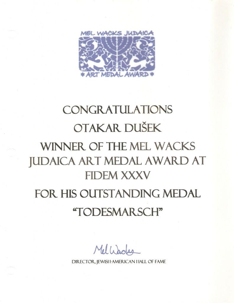 Mel Wacks Award