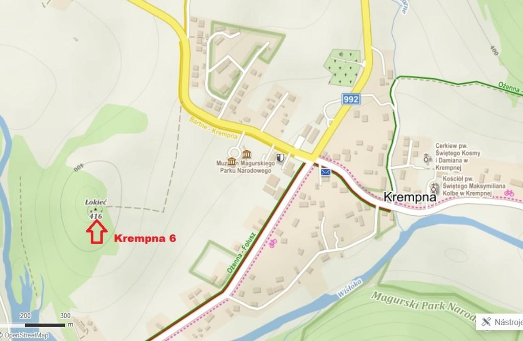 krempna 6 mapa